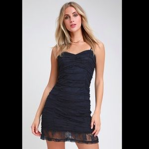 NWT LULUS Enchantress Ruched Bodycon Dress